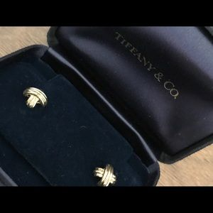 Tiffany & Co Signature X 18k Gold Earrings